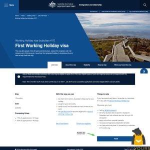 澳洲打工度假-簽證申請懶人包02